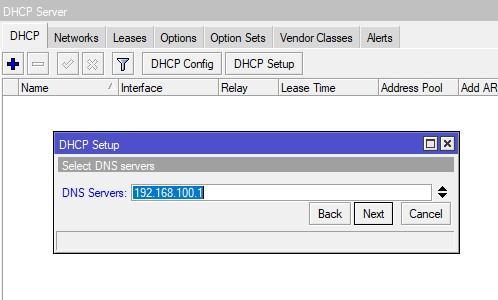 Указываем DNS сервер