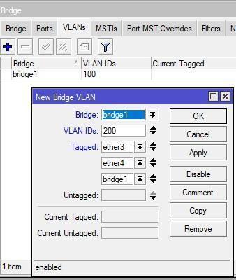 Прописываем еще один VLAN