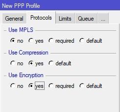 Указываем дополнительные параметры Protocols
