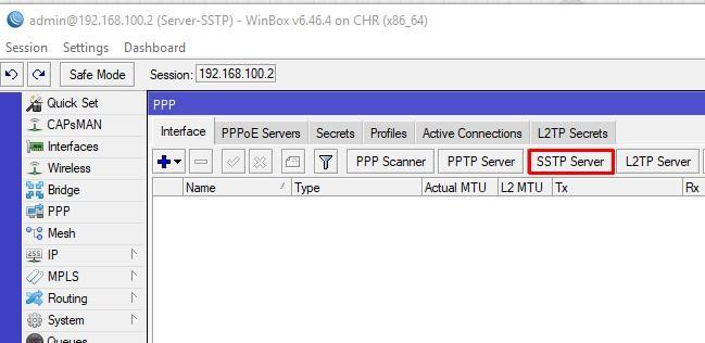 Открываем PPP интерфейсы