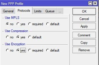 Изменим значения protocols
