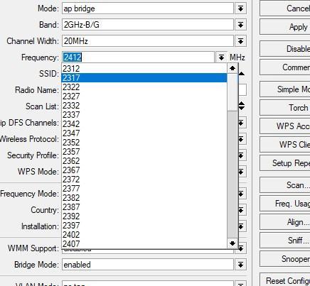 Проверка разблокировки частот