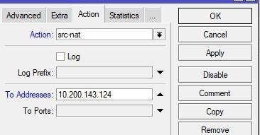 Настройка параметров src-nat