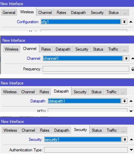 Указываем параметры для первого канала