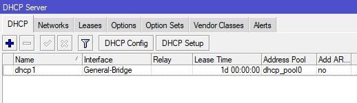 Список DHCP серверов