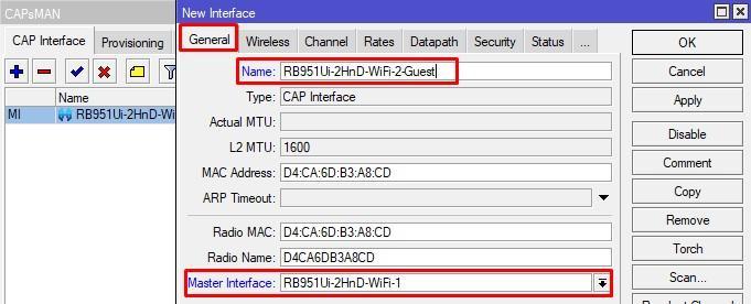 Создание slave cap интерфейса для WiFi-2-Guest