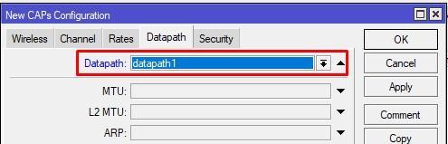 Добавляем в конфиг первой сети соответствующий datapath