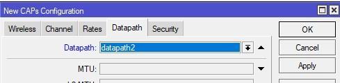Добавляем в конфиг второй сети соответствующий datapath