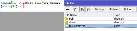 Экспортируем конфигурацию в rsc формат
