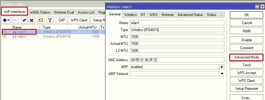 Открываем свойства 2.4 диапазонной карточки wifi