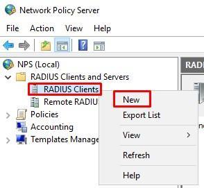 Создание RADIUS Client в Windows