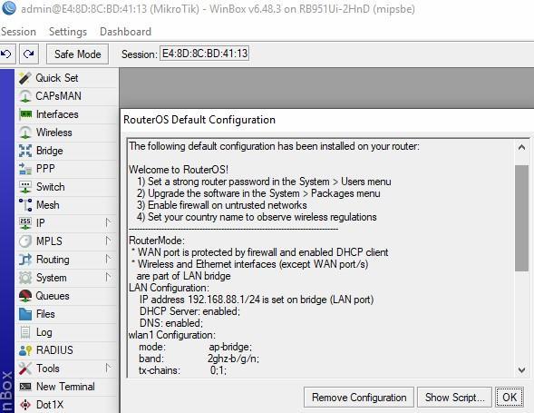 RoterOS Default Configuration