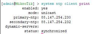 Смотрим на статус синхронизации времени через cli