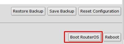 Перезагрузка с SWOS в RouterOS