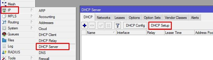 DHCP Server VLAN